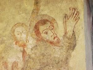 Jesu Gesicht im Garten Getsemane