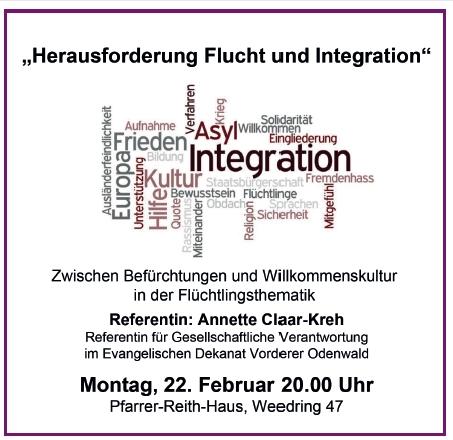 Herausforderung Flucht und Integration