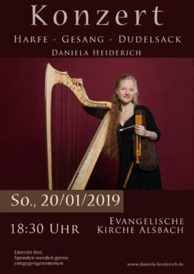 Konzert in der Alsbacher Kirche   am Sonntag, 20.1.2019 um 18:30 Uhr mit Daniela Heiderich